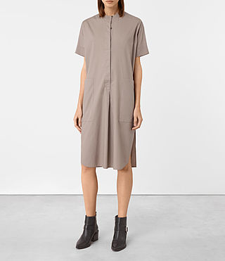 Femmes Alexa Shirt Dress (Chrome Grey) - product_image_alt_text_5