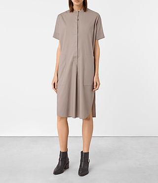 Women's Alexa Shirt Dress (Chrome Grey) - product_image_alt_text_5