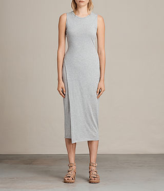 Damen Naia Dress (Grey Marl) -
