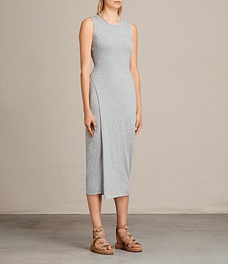Womens Naia Dress (Grey Marl) - product_image_alt_text_3