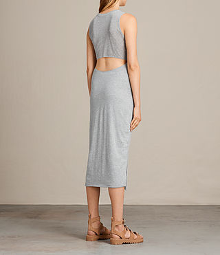 Womens Naia Dress (Grey Marl) - product_image_alt_text_6