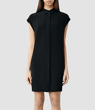 Womens Giovia Shirt Dress (Chalk) - product_image_alt_text_1