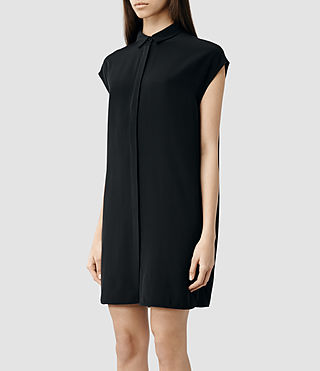 Womens Giovia Shirt Dress (Chalk) - product_image_alt_text_2