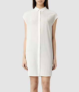 Womens Giovia Shirt Dress (Chalk)