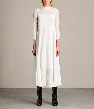 Womens Nima Pinto Dress (Chalk White)