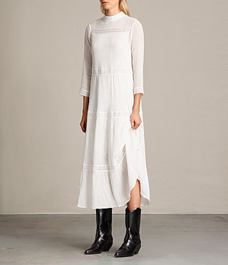 Women's Nima Pinto Dress (Chalk White) - Image 3