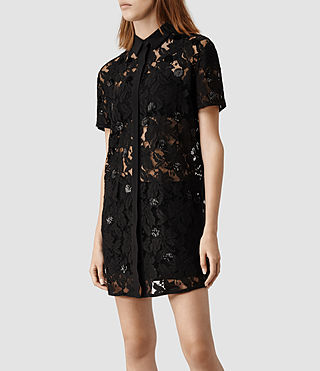 Womens Pip Shirt Dress (Black) - product_image_alt_text_2
