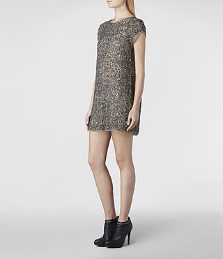 Women's Dispel Dress (Gunmetal) - product_image_alt_text_2