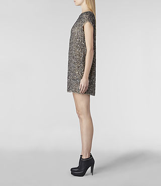 Women's Dispel Dress (Gunmetal) - product_image_alt_text_3