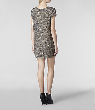 Women's Dispel Dress (Gunmetal) - product_image_alt_text_4