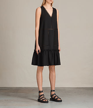 Womens Crace Dress (Black) - product_image_alt_text_3