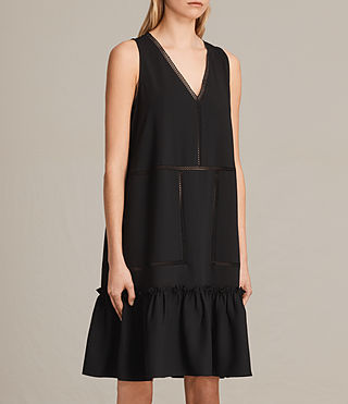 Womens Crace Dress (Black) - product_image_alt_text_5