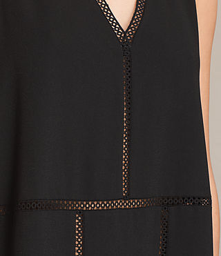 Womens Crace Dress (Black) - product_image_alt_text_6