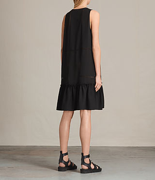 Womens Crace Dress (Black) - product_image_alt_text_7