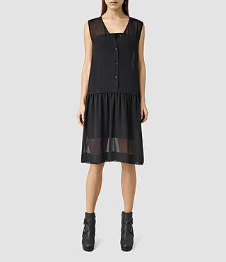 Womens Comma Dress (Black)