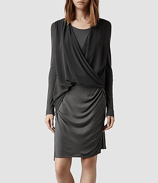 Womens Abi Sleeve Dress (Shadow)