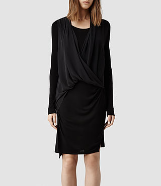 Womens Abi Sleeve Dress (Black)