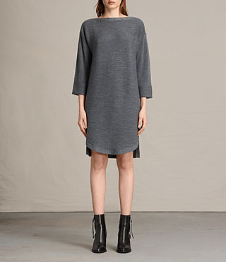 Damen Esia Dress (Charcoal/Grey Marl) -