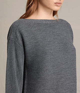 Damen Esia Dress (Charcoal/Grey Marl) - product_image_alt_text_2