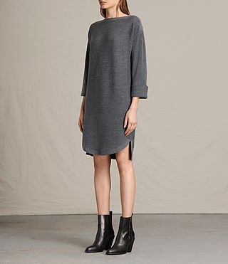 Damen Esia Dress (Charcoal/Grey Marl) - product_image_alt_text_3