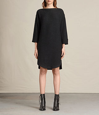 Womens Esia Dress (Cinder Black Marl) - product_image_alt_text_1