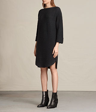 Womens Esia Dress (Cinder Black Marl) - product_image_alt_text_3