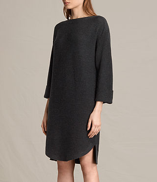 Womens Esia Dress (Cinder Black Marl) - product_image_alt_text_6