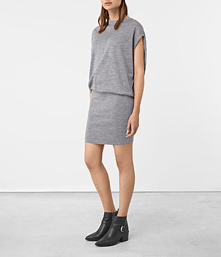 Femmes Dornie Merino Dress (Grey Marl)