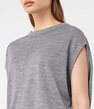 Donne Dornie Merino Dress (Grey Marl) - product_image_alt_text_2