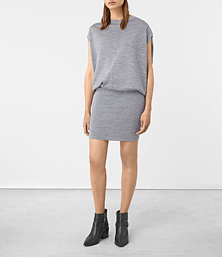 Donne Dornie Merino Dress (Grey Marl) - product_image_alt_text_3