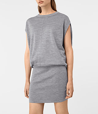 Donne Dornie Merino Dress (Grey Marl) - product_image_alt_text_4
