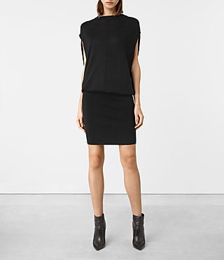 Womens Dornie Merino Dress (Black) - product_image_alt_text_1