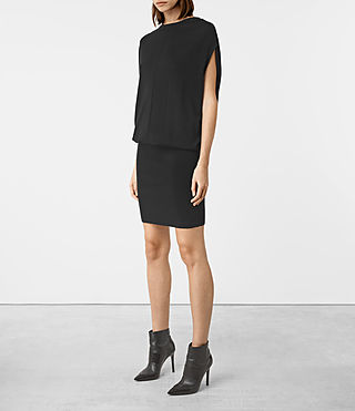 Women's Dornie Merino Dress (Black) - product_image_alt_text_2