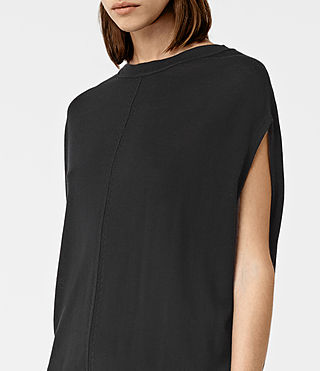 Womens Dornie Merino Dress (Black) - product_image_alt_text_4