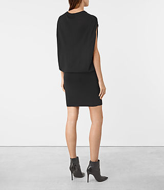 Womens Dornie Merino Dress (Black) - product_image_alt_text_5