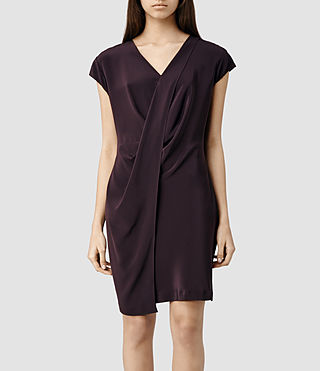 Womens Nise Dress (LIQUORICE)