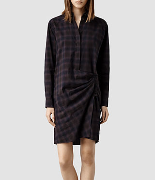 Womens Irma Shirt Dress (Neri)