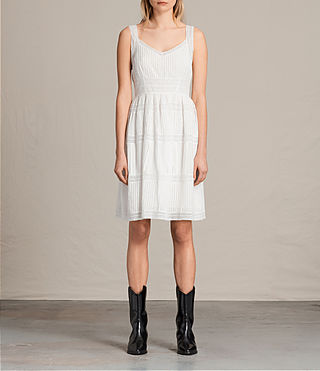 Womens Pinto Dress (Chalk White) - product_image_alt_text_1