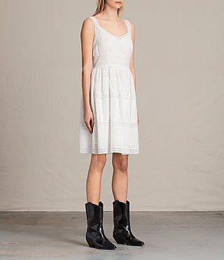 Women's Pinto Dress (Chalk White) - product_image_alt_text_3