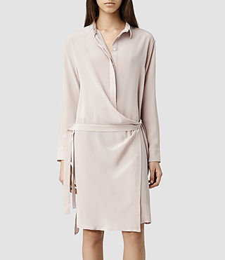 Womens Rui Shirt Dress (Dusty Pink)