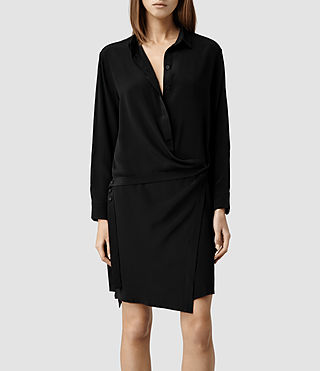 Womens Rui Shirt Dress (Black)