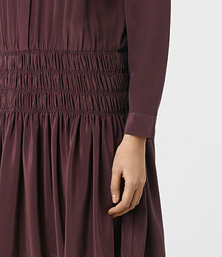 Women's Briar Silk Dress (Damson Red) - product_image_alt_text_2