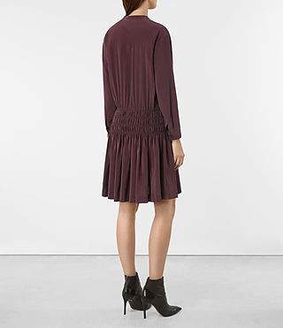 Damen Briar Silk Dress (Damson Red) - product_image_alt_text_5