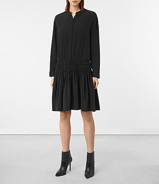 Womens Briar Silk Dress (Black) - product_image_alt_text_1