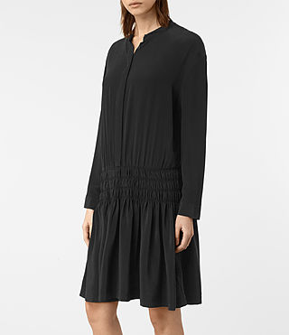 Womens Briar Silk Dress (Black) - product_image_alt_text_2