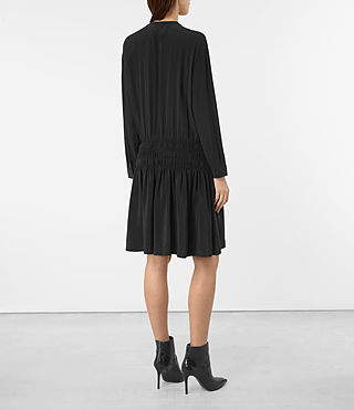 Womens Briar Silk Dress (Black) - product_image_alt_text_5
