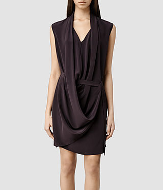 Womens Renati Dress (LIQUORICE)