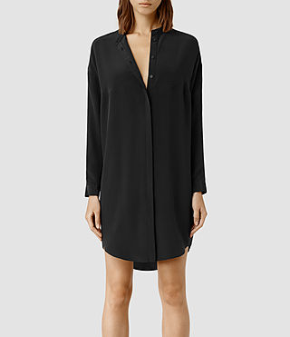 Womens Helle Shirt Dress (Black)