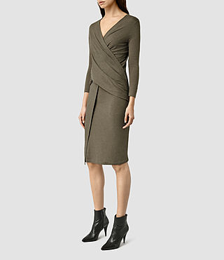Womens Adria Dress (WREN BROWN)