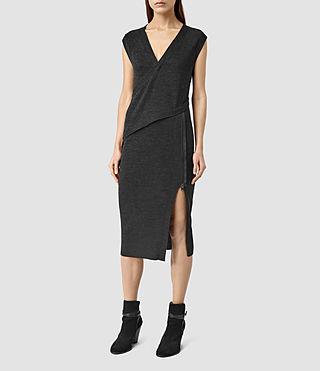 Womens Kalo Dress (CinderBlackMarl)
